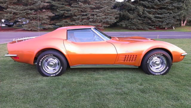 1971 CHEVROLET CORVETTE 2 DOOR COUPE - Side Profile - 157965