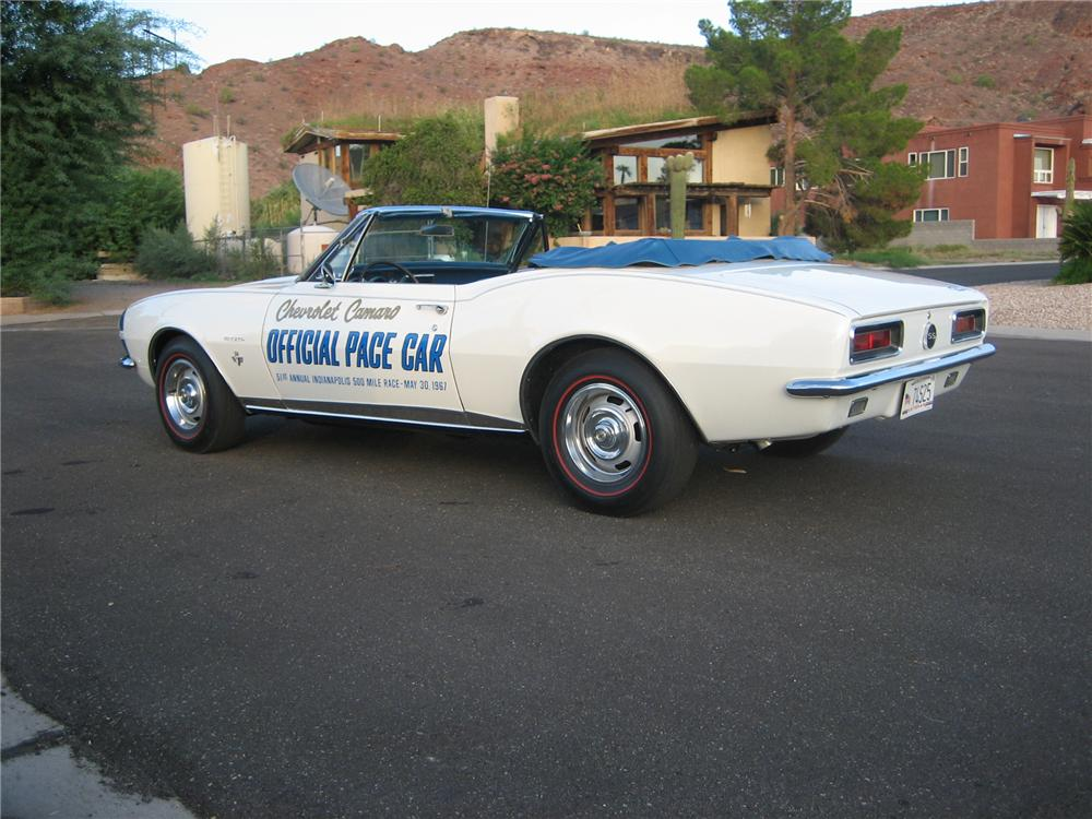 1967 CHEVROLET CAMARO INDY PACE CAR CONVERTIBLE - Rear 3/4 - 157969