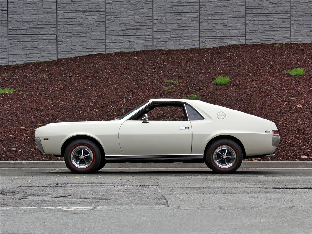 1968 AMERICAN MOTORS AMX 2 DOOR COUPE - Side Profile - 157974