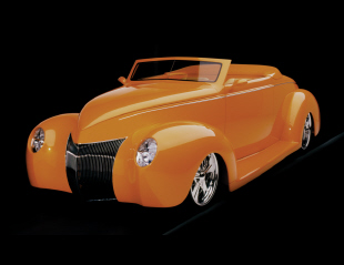 "1939 FORD DELUXE CUSTOM CONVERTIBLE ""ORANGE CRUSH -  - 15801"