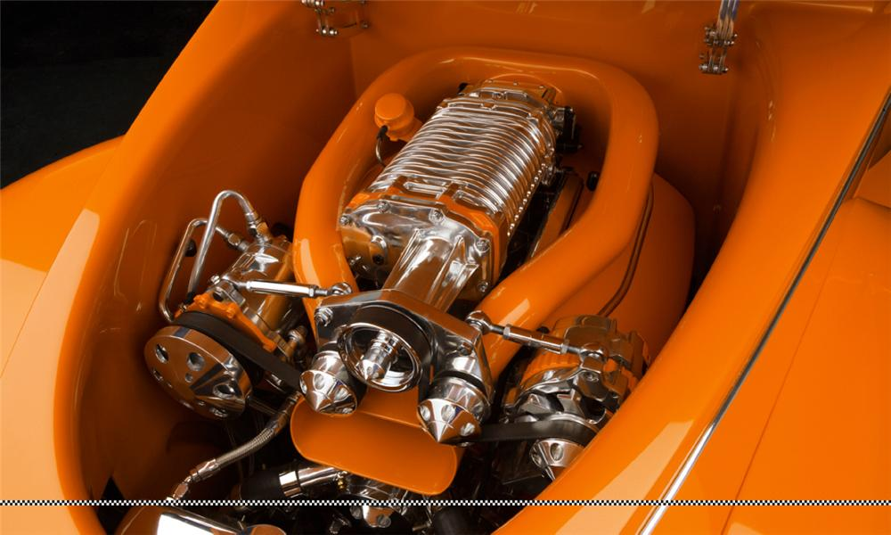 "1939 FORD DELUXE CUSTOM CONVERTIBLE ""ORANGE CRUSH - Engine - 15801"