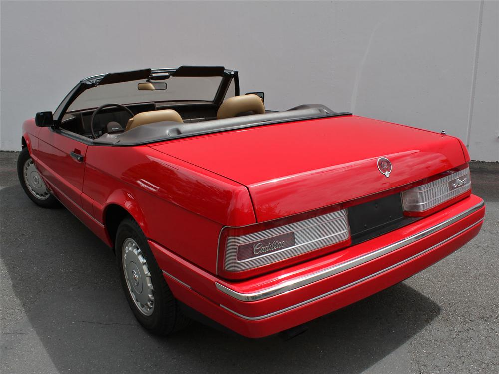 1988 CADILLAC ALLANTE CONVERTIBLE - Rear 3/4 - 158177