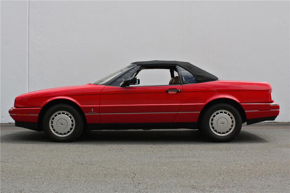 1988 CADILLAC ALLANTE CONVERTIBLE - Side Profile - 158177