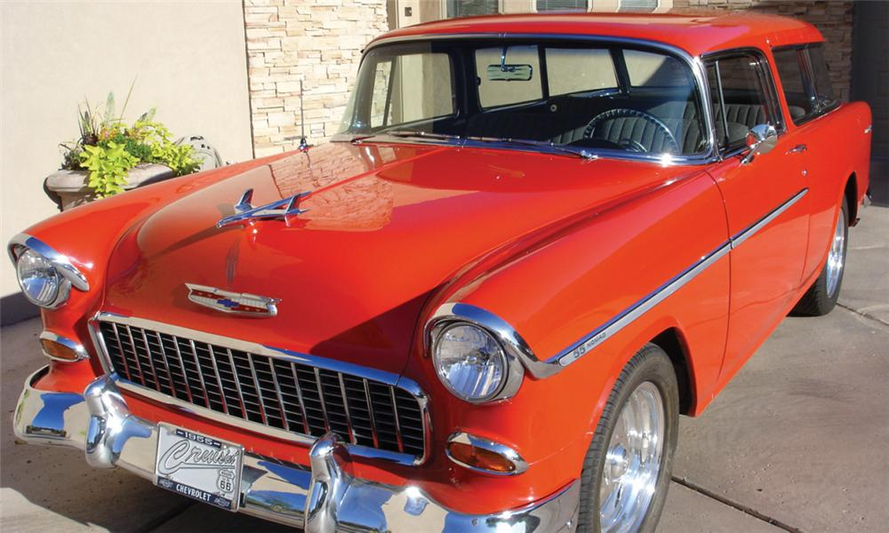 1955 CHEVROLET BEL AIR NOMAD STATION WAGON - Front 3/4 - 15819