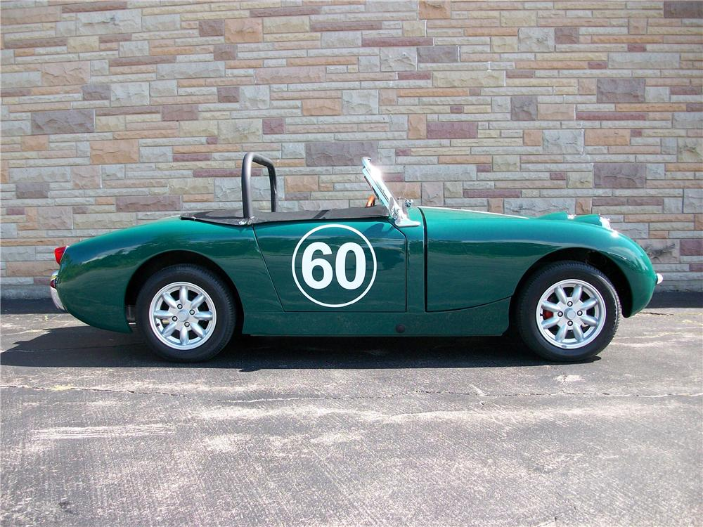 1960 AUSTIN-HEALEY SPRITE BUGEYE CONVERTIBLE - Side Profile - 158256