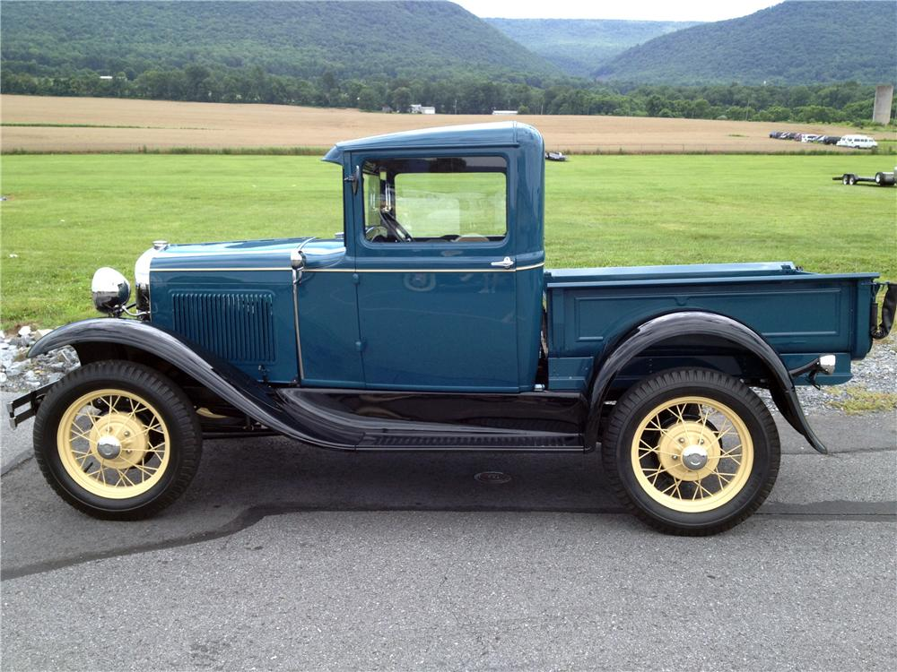 1931 FORD MODEL A PICKUP - Side Profile - 158260