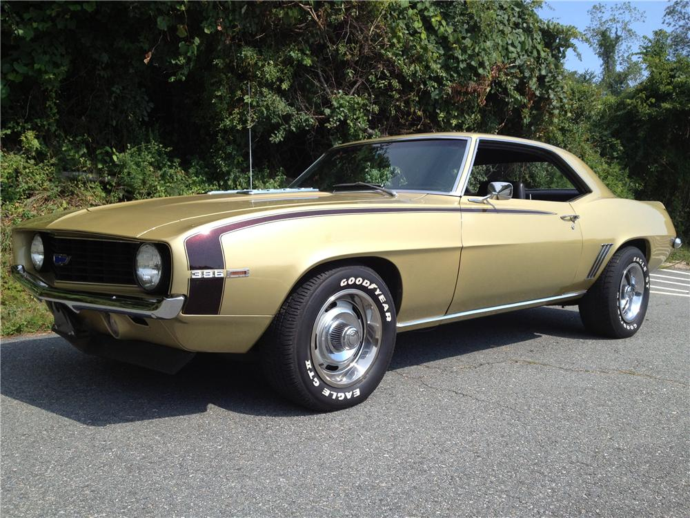 1969 CHEVROLET CAMARO 2 DOOR COUPE - Side Profile - 158271