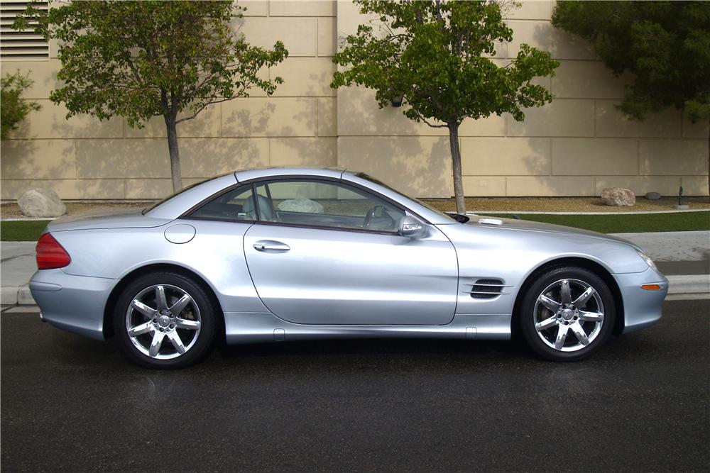 2003 MERCEDES-BENZ SL500 CONVERTIBLE - Side Profile - 158291