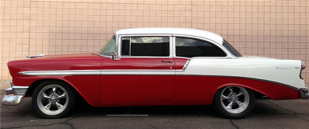 1956 chevrolet bel air custom 2 door sedan 158302