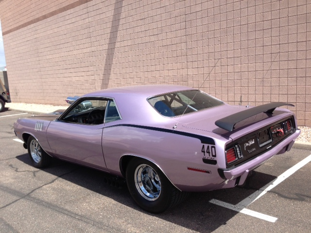 1971 PLYMOUTH BARRACUDA CUSTOM 2 DOOR COUPE - Rear 3/4 - 158303