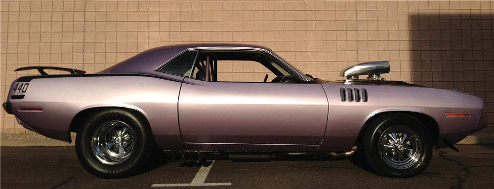 1971 PLYMOUTH BARRACUDA CUSTOM 2 DOOR COUPE - Side Profile - 158303