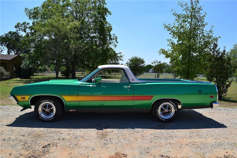 1971 FORD RANCHERO GT PICKUP - Side Profile - 158311