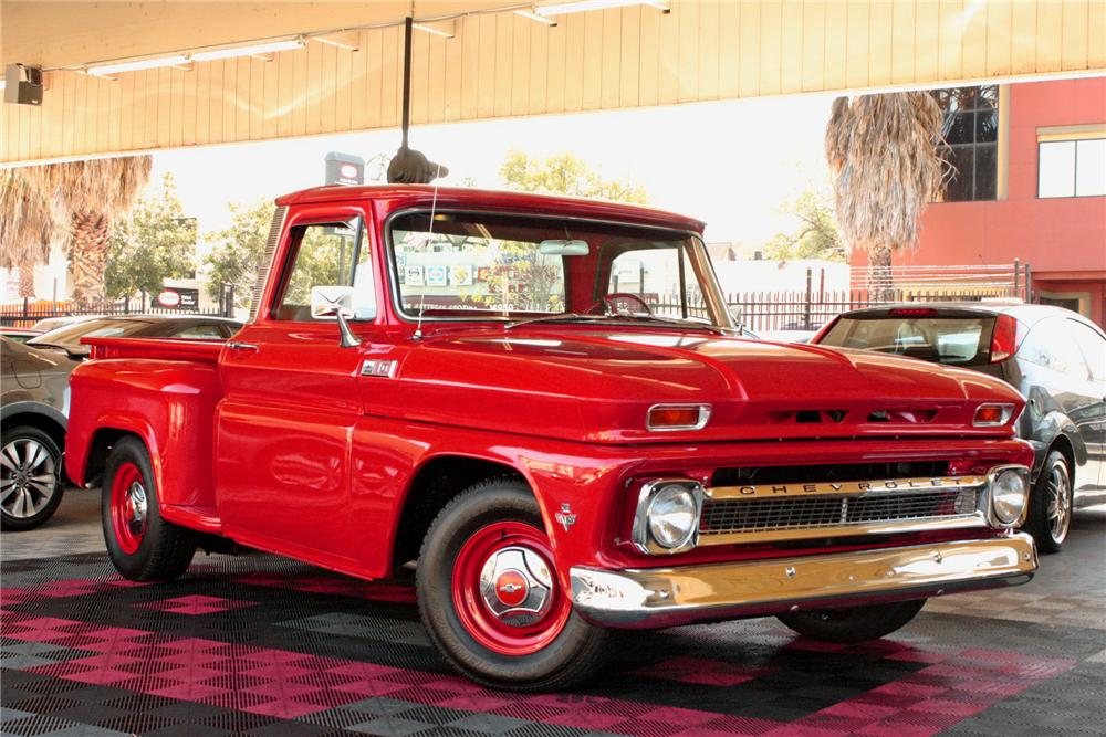 1965 CHEVROLET C-10 CUSTOM PICKUP - Front 3/4 - 158321