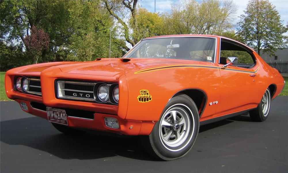 1969 PONTIAC GTO JUDGE 2 DOOR HARDTOP - Front 3/4 - 15833