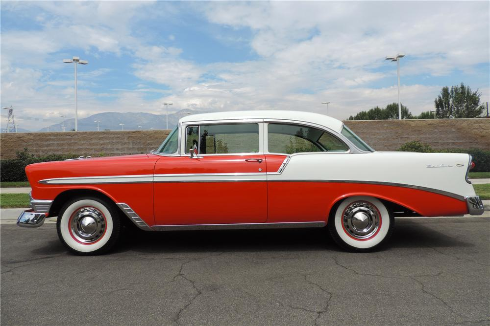 1956 CHEVROLET BEL AIR 2 DOOR POST - Side Profile - 158333