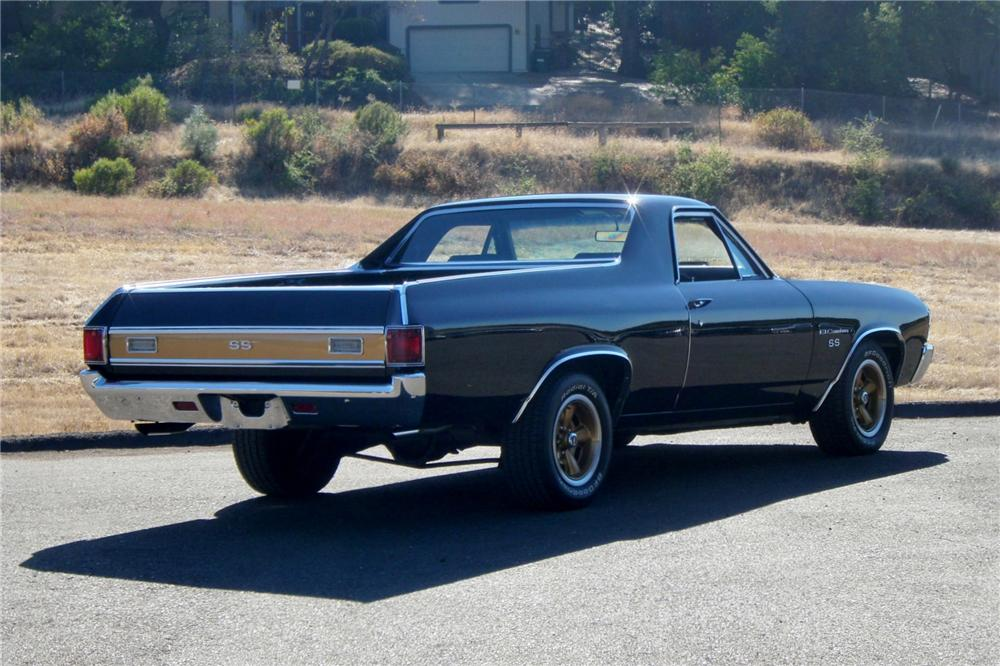1971 CHEVROLET EL CAMINO PICKUP - Rear 3/4 - 158361