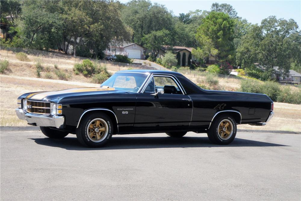 1971 CHEVROLET EL CAMINO PICKUP - Side Profile - 158361