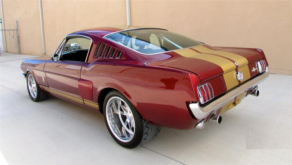 1966 FORD MUSTANG CUSTOM FASTBACK - Rear 3/4 - 158366