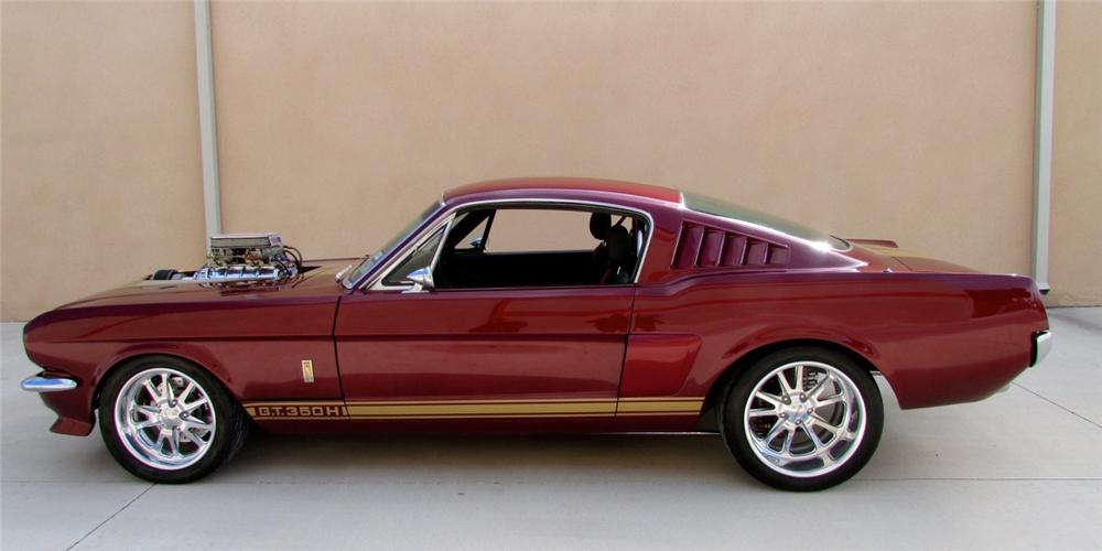 1966 FORD MUSTANG CUSTOM FASTBACK - Side Profile - 158366
