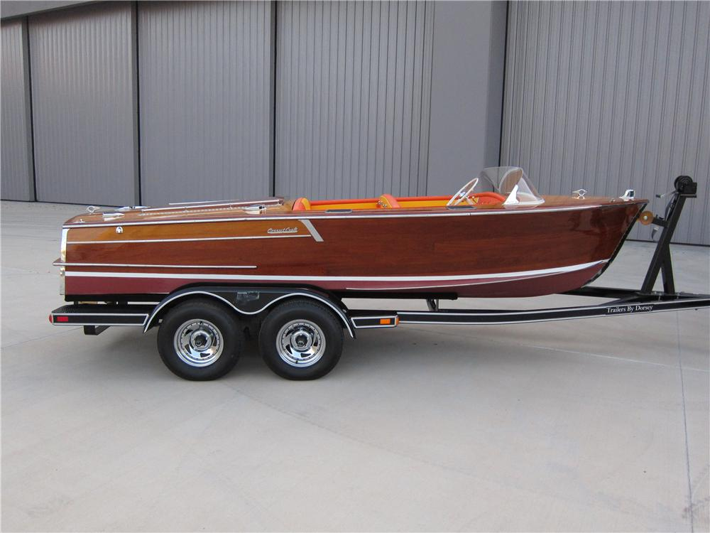1956 CORRECT CRAFT COLLEGIAN WOOD BOAT - Side Profile - 158378