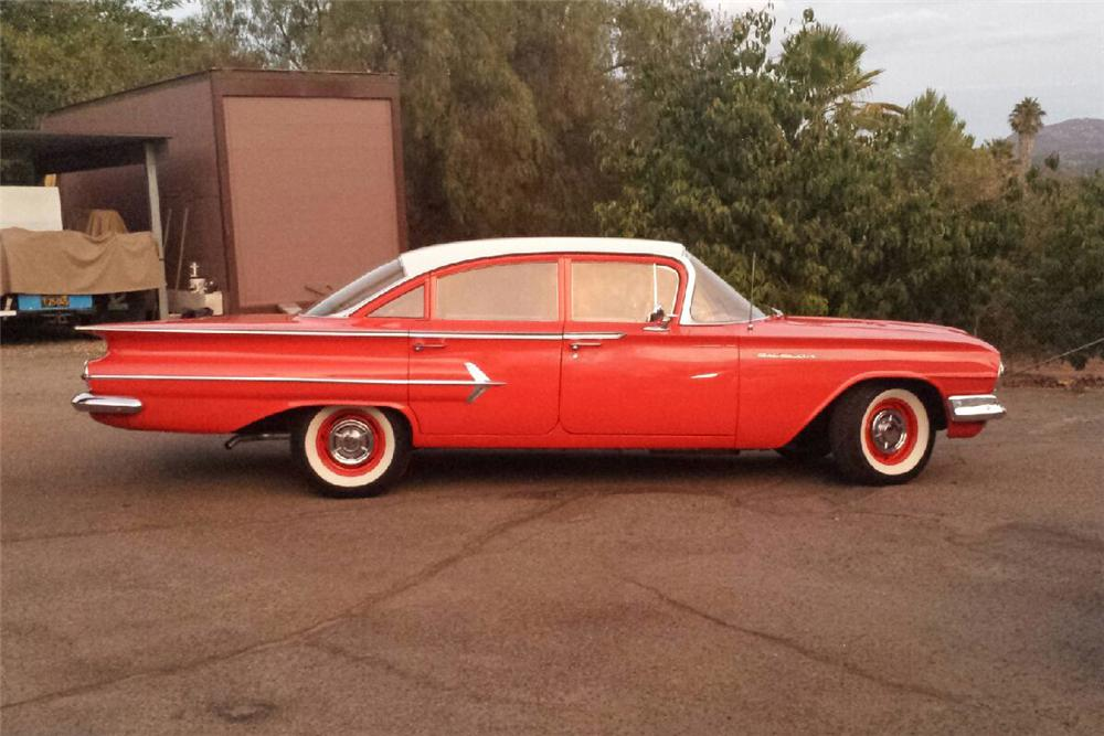 1960 CHEVROLET BEL AIR 4 DOOR SEDAN - Side Profile - 158387
