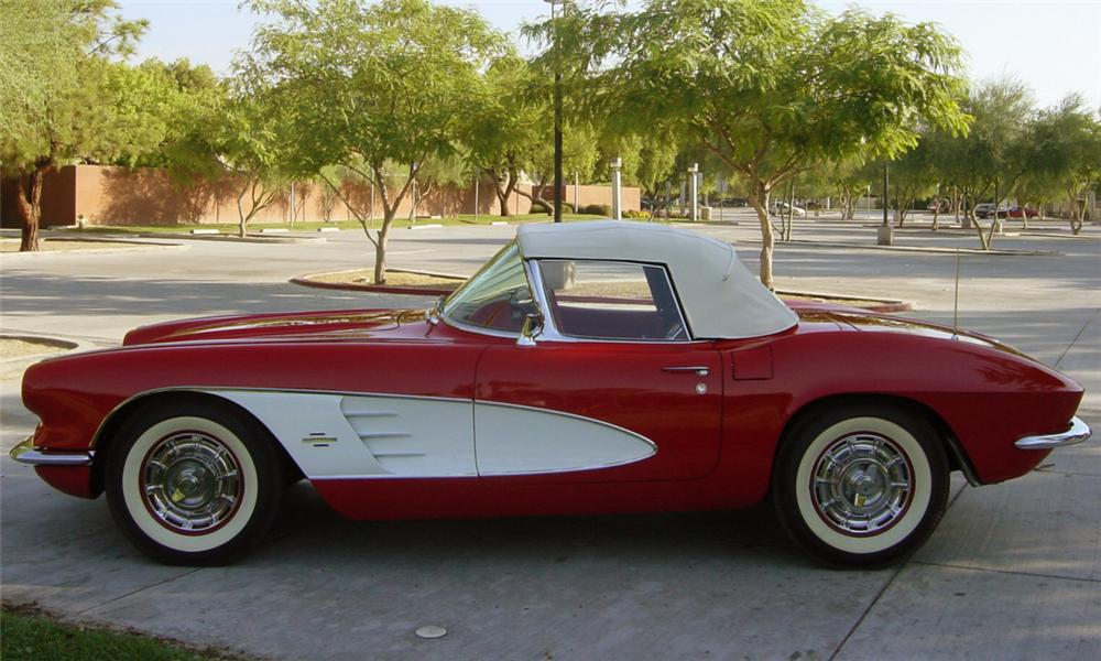 1961 CHEVROLET CORVETTE CONVERTIBLE - Side Profile - 15839
