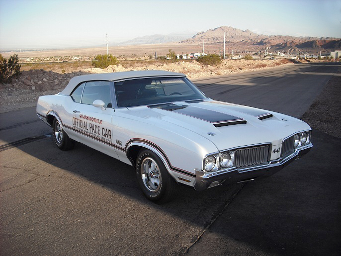 1970 OLDSMOBILE 442 INDY PACE CAR CONVERTIBLE - Front 3/4 - 158400