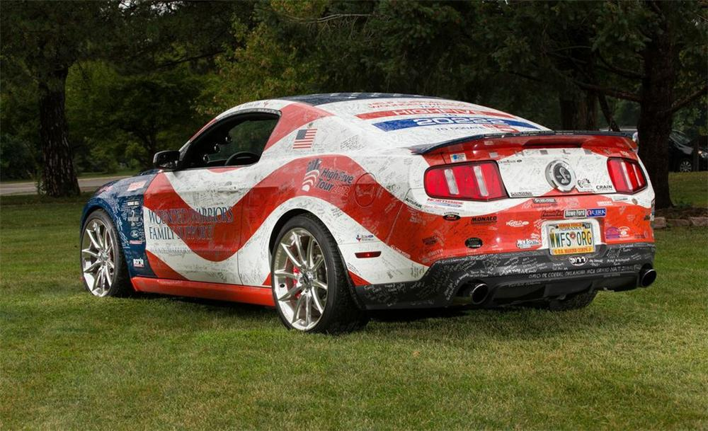"2012 SHELBY GT500 ""SUPER SNAKE"" 2 DOOR COUPE - Rear 3/4 - 158405"