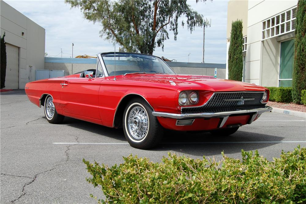 1966 FORD THUNDERBIRD CONVERTIBLE - Front 3/4 - 158436
