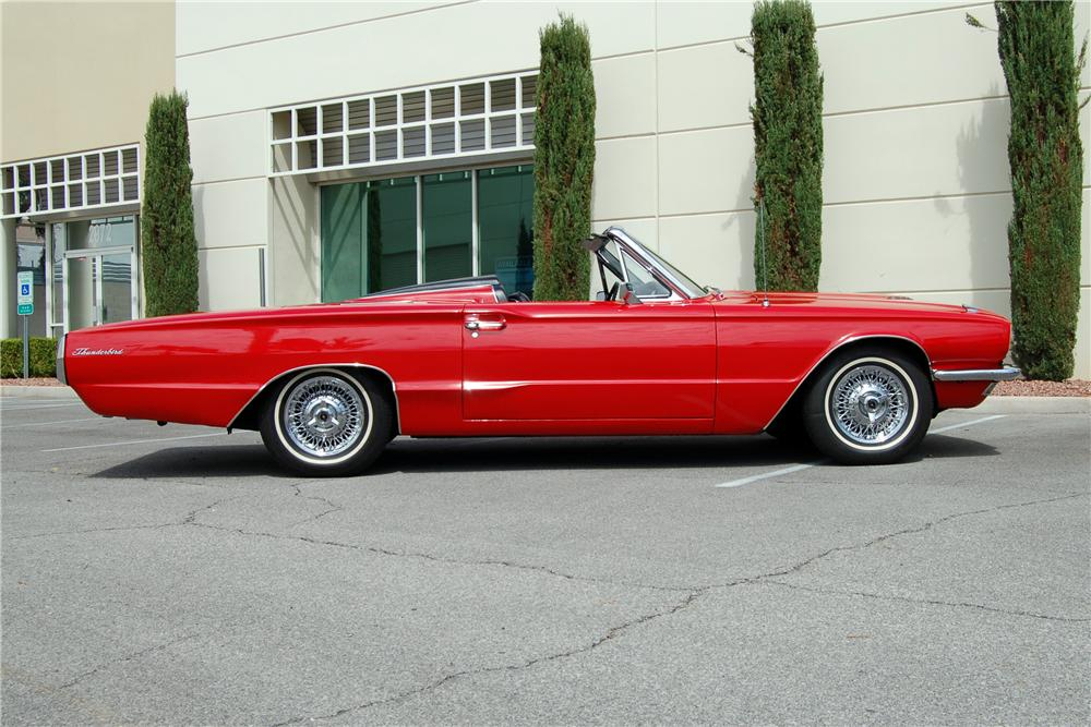 1966 FORD THUNDERBIRD CONVERTIBLE - Side Profile - 158436