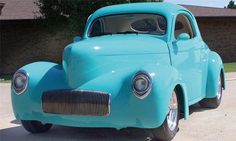 1941 WILLYS JAC CUSTOM COUPE - Front 3/4 - 15845