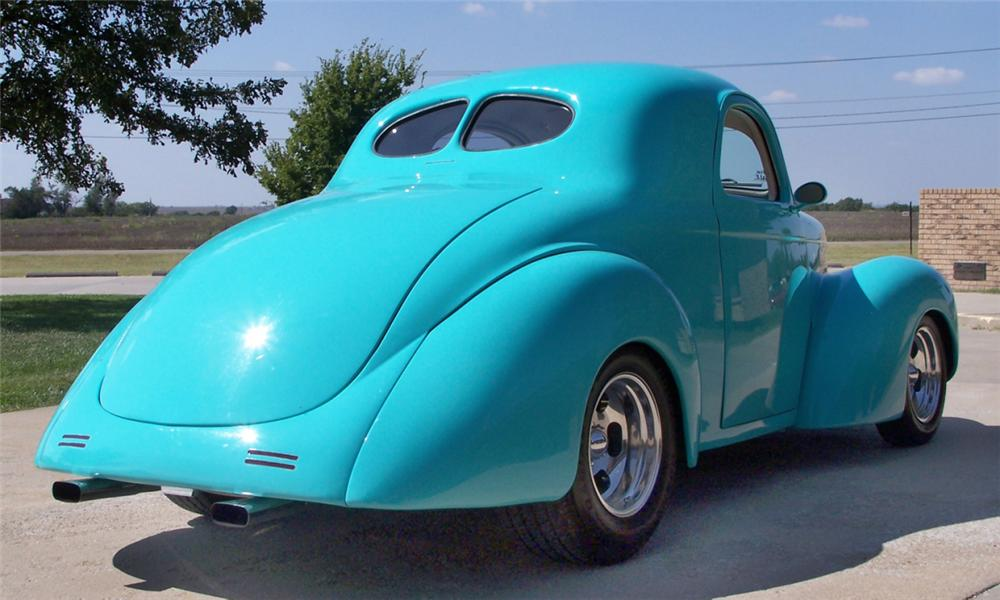 1941 WILLYS JAC CUSTOM COUPE - Rear 3/4 - 15845