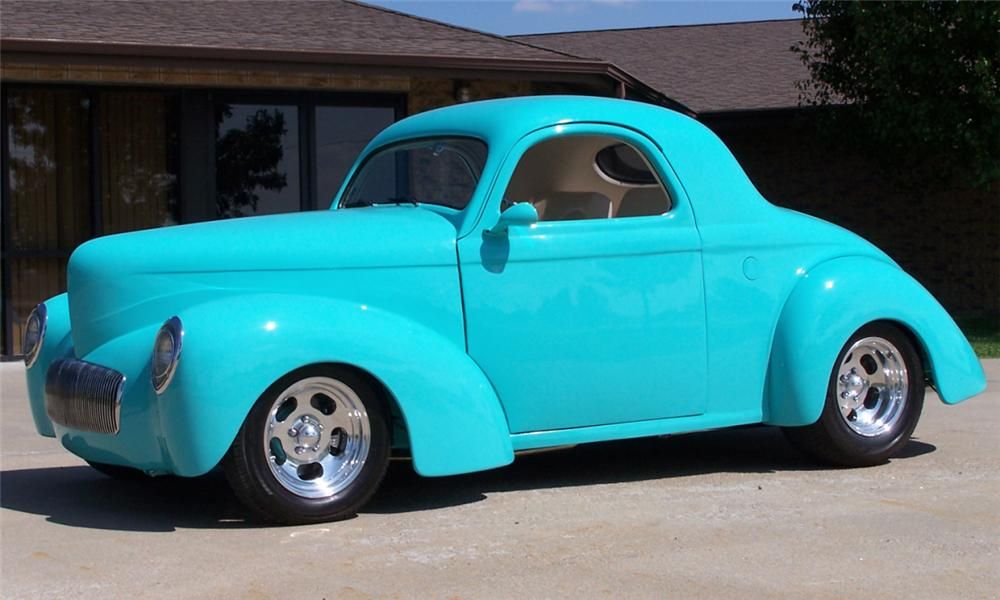 1941 WILLYS JAC CUSTOM COUPE - Side Profile - 15845