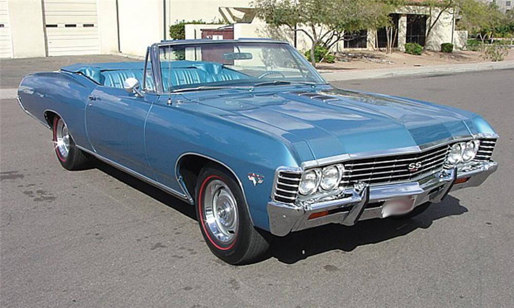 1967 CHEVROLET IMPALA SS 427 CONVERTIBLE - Front 3/4 - 15863