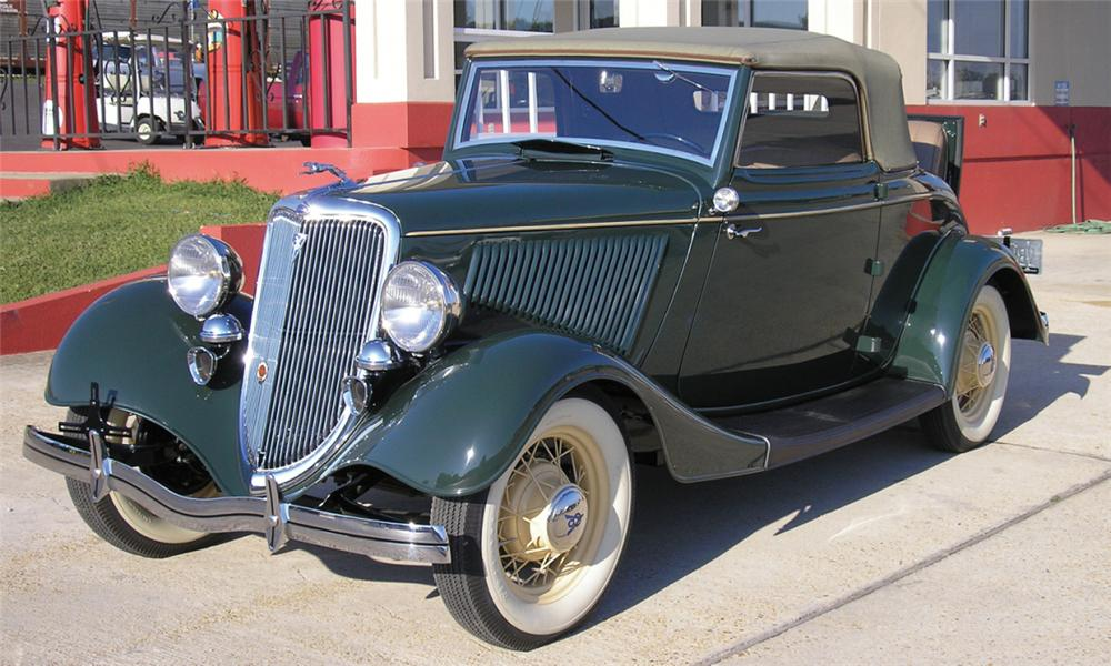1934 FORD 40 CABRIOLET - Front 3/4 - 15886