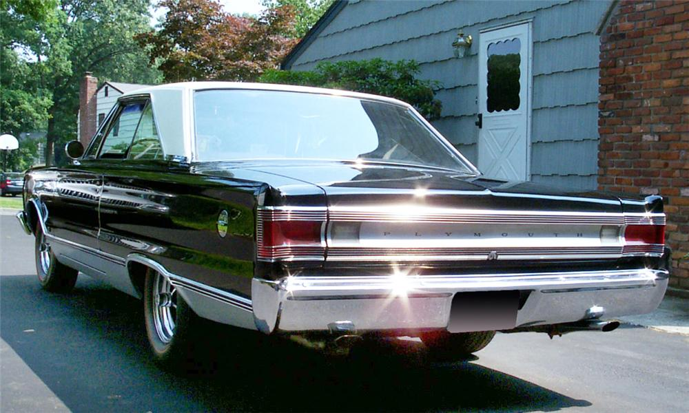 1967 PLYMOUTH HEMI SATELLITE 2 DOOR HARDTOP - Rear 3/4 - 15887
