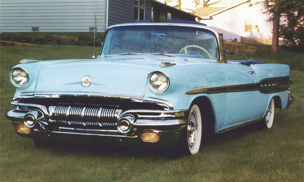 1957 PONTIAC STAR CHIEF CONVERTIBLE - Front 3/4 - 15888