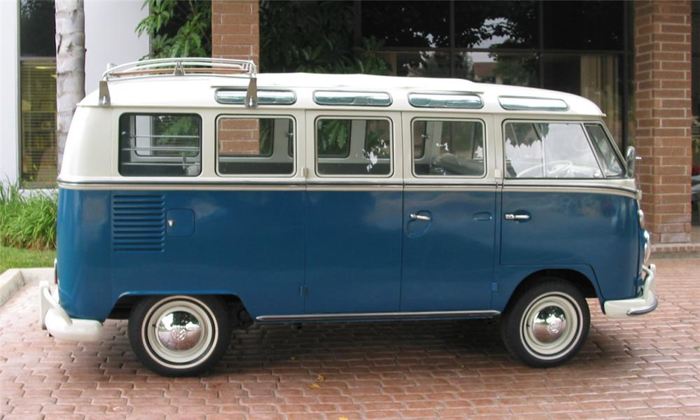 1966 VOLKSWAGEN 21 WINDOW MICROBUS - Side Profile - 15896