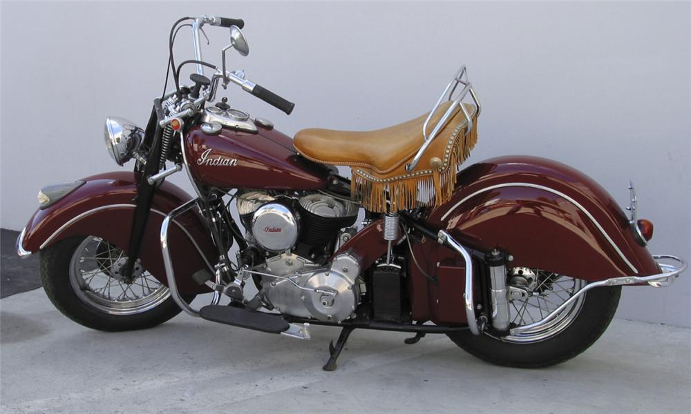 1947 INDIAN CHIEF MOTORCYCLE - Side Profile - 15897