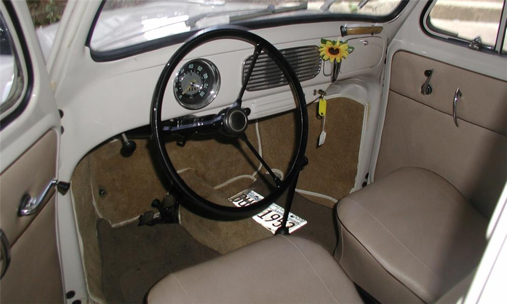 1953 VOLKSWAGEN BEETLE 2 DOOR HARDTOP W/SLIDE RAG TOP - Interior - 15902