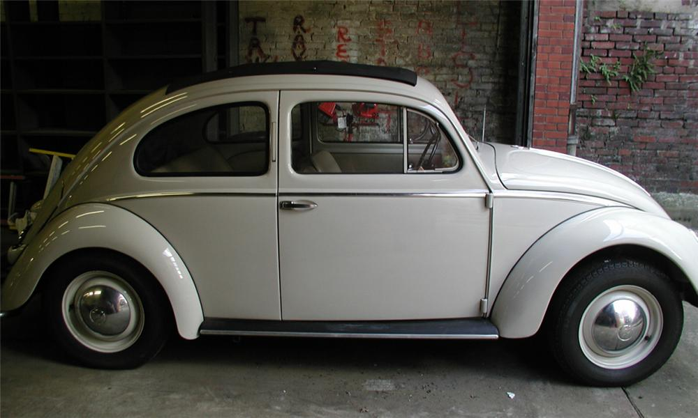 1953 VOLKSWAGEN BEETLE 2 DOOR HARDTOP W/SLIDE RAG TOP - Side Profile - 15902