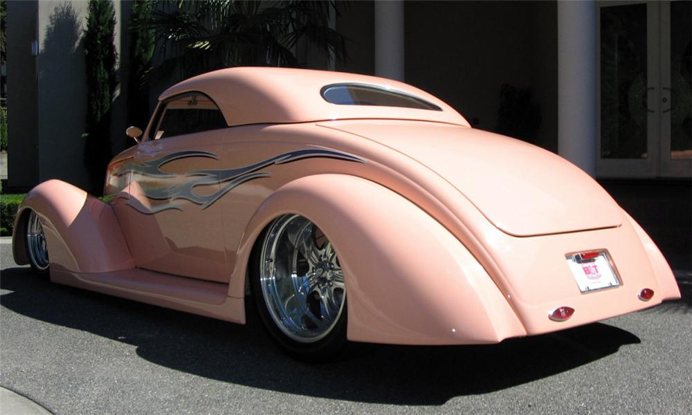 1937 FORD ROADSTER STREET ROD - Rear 3/4 - 15921