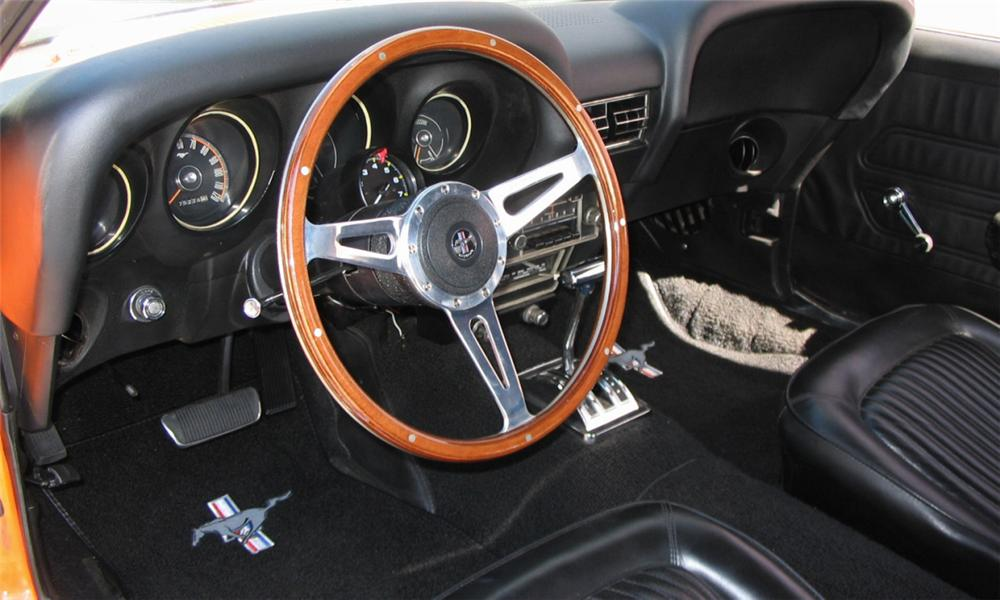 1969 ford mustang boss 302 custom convertible interior 15936