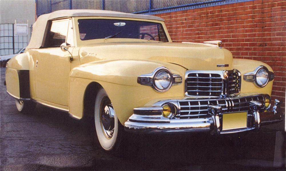 1948 LINCOLN CONTINENTAL 2 DOOR CONVERTIBLE - Front 3/4 - 15944
