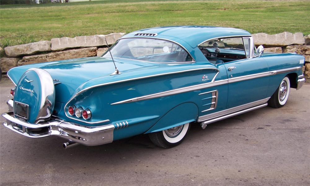 1958 CHEVROLET IMPALA SPECIAL SPORT COUPE - Rear 3/4 - 15952