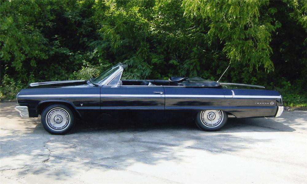 1964 CHEVROLET IMPALA SS CONVERTIBLE - Side Profile - 15956