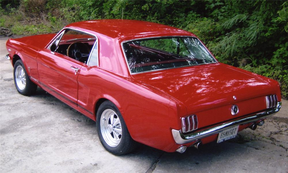 1965 FORD MUSTANG COUPE - Rear 3/4 - 15958
