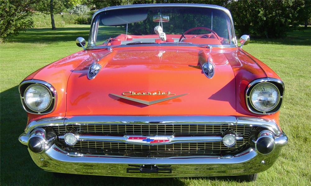 1957 CHEVROLET BEL AIR FUEL INJECTED CONVERTIBLE - Engine - 15966
