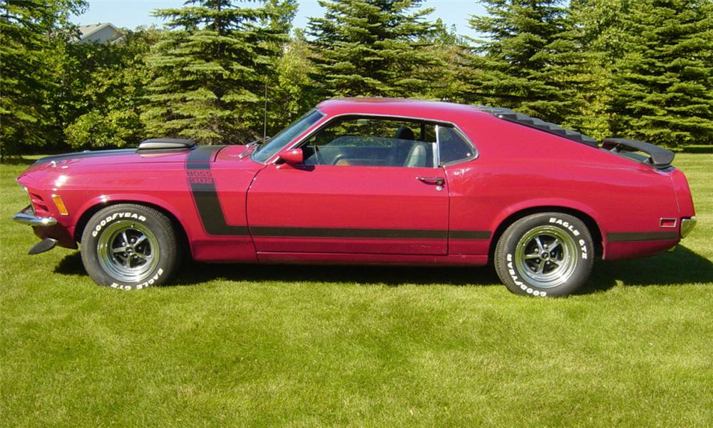 1970 FORD MUSTANG BOSS 302 FASTBACK - Side Profile - 15967