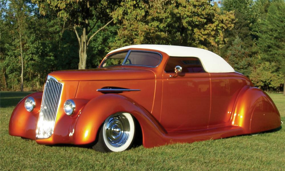 1936 FORD CUSTOM CONVERTIBLE STREET ROD - Front 3/4 - 15968
